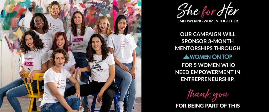 5 υποτροφίες mentoring από την DoTwist και την καμπάνια She for Her!